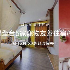 《母親節最佳方案》 嚴選全台5家寵物友善住宿/餐廳~讓毛孩陪你輕鬆渡假去!