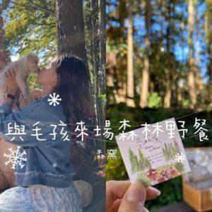 【食】與毛孩來場夢幻的森林浴野餐┃寵物友善餐廳┃森窯